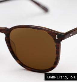 Garrett Leight Kinney Sunglasses - Matte Brandy Tortoise
