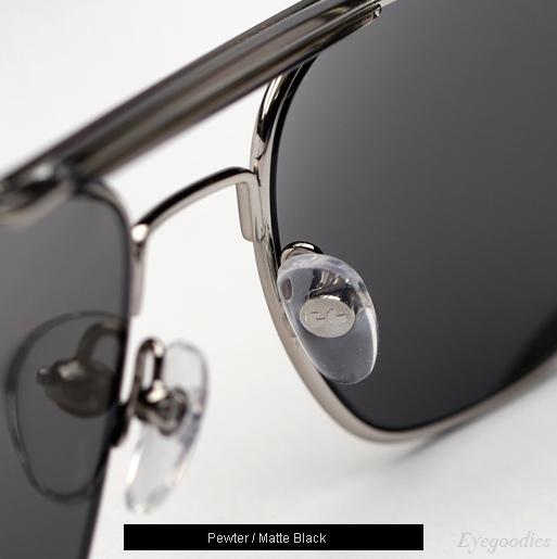 Garrett Leight San Juan sunglasses in Pewter/Matte Black
