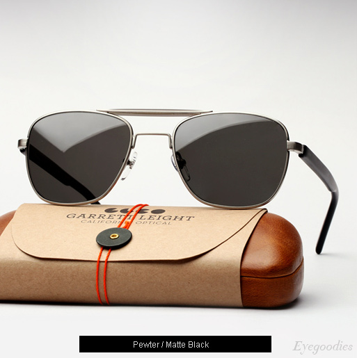 Garrett Leight San Juan sunglasses in Pewter/Matte Black