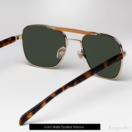 Garrett Leight San Juan sunglasses in Gold/Matte Spotted Tortoise