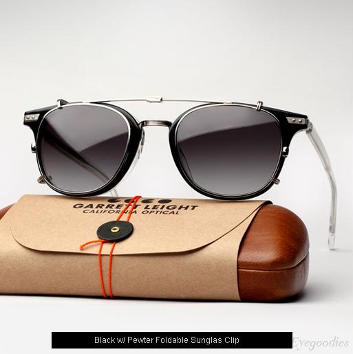 Garrett Leight Venezia Eyeglasses - Black + Clip