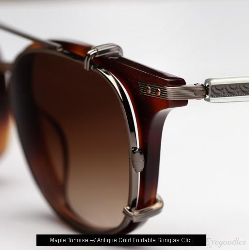Garrett Leight Venezia Eyeglasses - Maple Tortoise + Clip