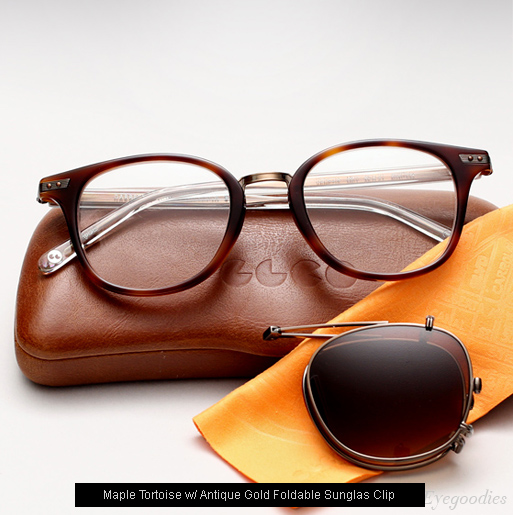 Garrett Leight Venezia Eyeglasses - Maple Tortoise + Clip