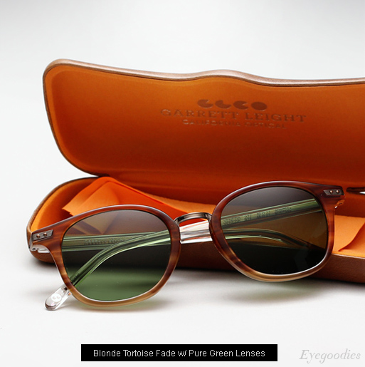 Garrett Leight Venezia Sunglasses in Blonde Tortoise Fade