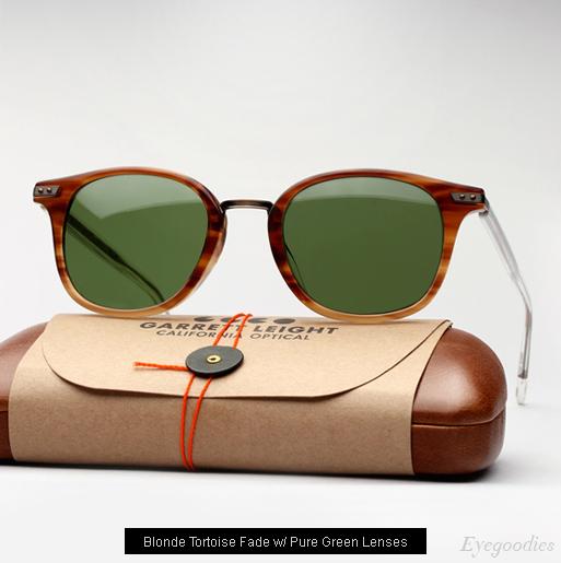 Garrett Leight Venezia Sunglasses in Blonde Tortoise Fade