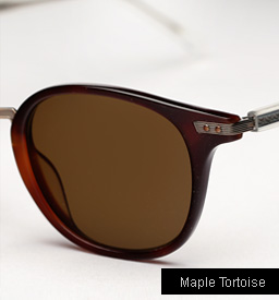 Garrett Leight Venezia Sunglasses in Maple Tortoise