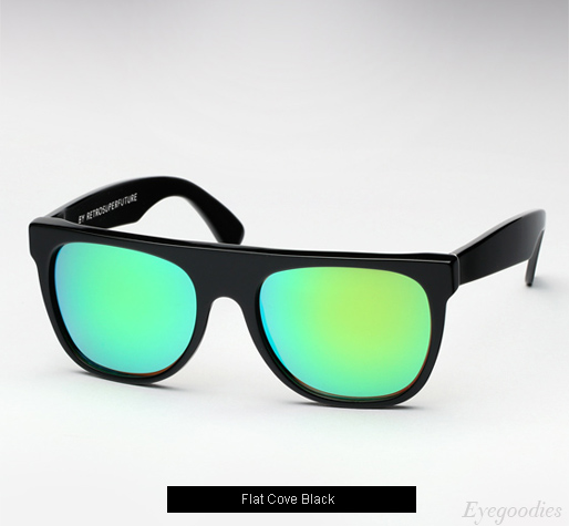 Super Flat Top Cove Black sunglasses