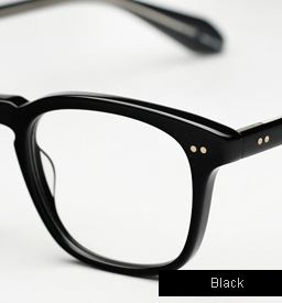 Garrett Leight Dudley Eyeglasses - Black
