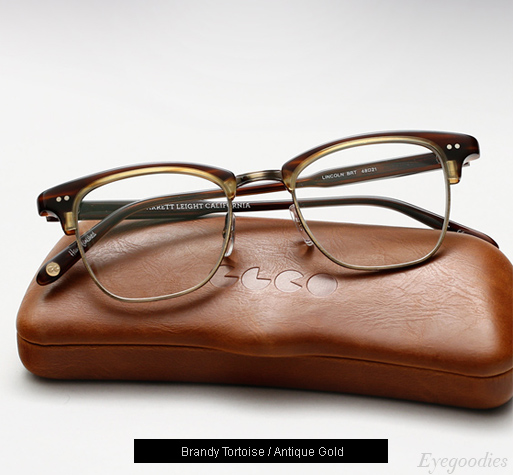 Garrett Leight Lincoln eyeglasses - Brandy Tortoise