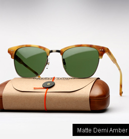 Garrett Leight Lincoln sunglasses - Matte Demi Amber