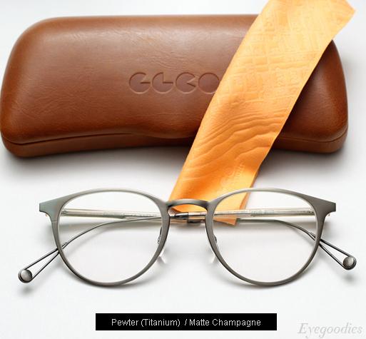 Garrett Leight Oxford Eyeglasses - Pewter / Matte Champagne