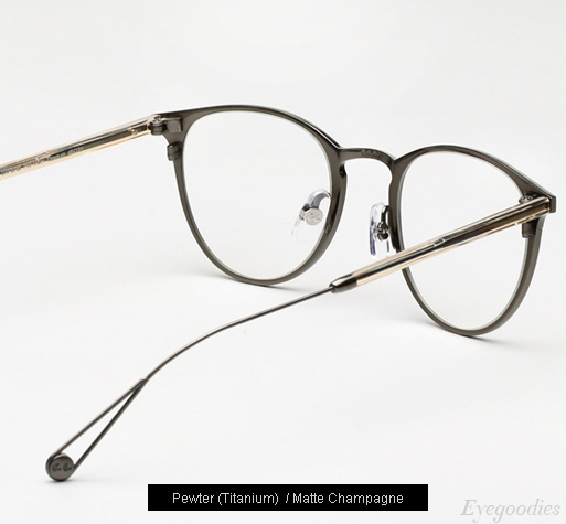 Garrett Leight Oxford Eyeglasses - Pewter / Matte Champagne