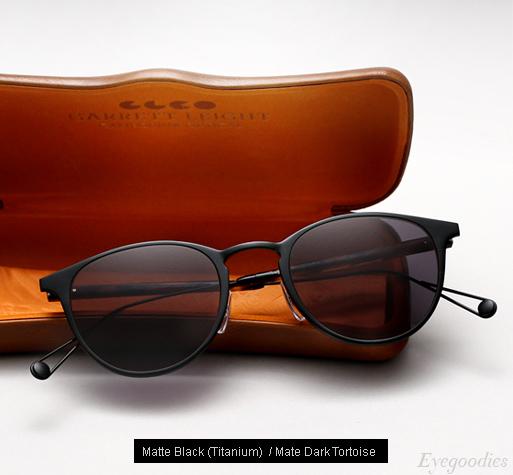 Garrett Leight Oxford Sunglasses - Matte Black / Matte Dark Tortoise