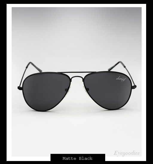 Illesteva x Lou Reed Aviator Sunglasses - Matte Black