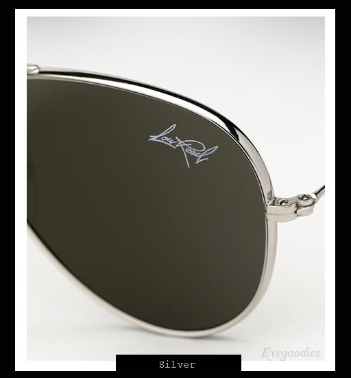 Illesteva x Lou Reed Aviator Sunglasses - Silver