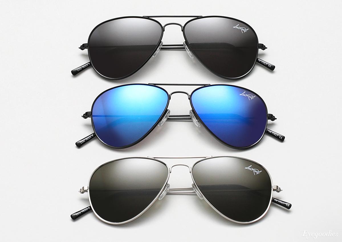 Illesteva X Lou Reed Aviator sunglasses