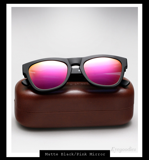 Illesteva x Lou Reed Waverly Sunglasses - Matte Black / Pink Mirror