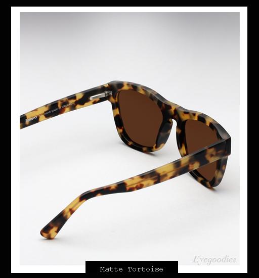 Illesteva x Lou Reed Waverly Sunglasses - Matte Tortoise