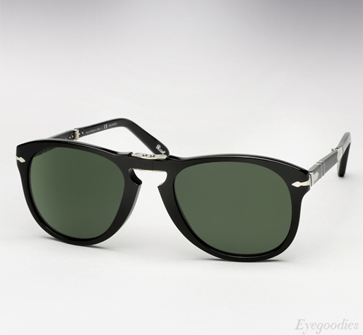 Persol 714 SM sunglasses - Black w/ Grey Green Polarized lenses