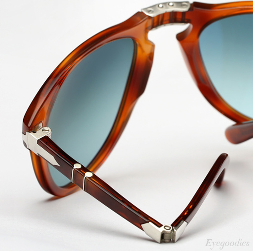 Persol 714 SM sunglasses - Honey Tortoise w/ Blue gradient Polarized