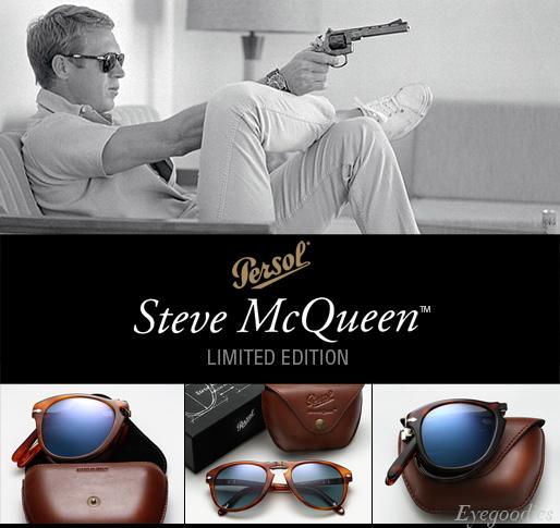 0bad282d38 Persol 714SM Sunglasses - Blue Lenses - Steve McQueen