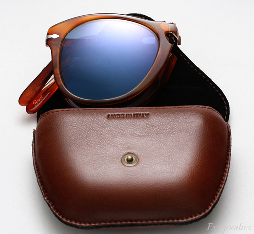 Persol 714 SM sunglasses - Honey Tortoise w/ Blue Lenses