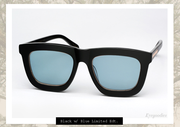 Karen Walker Deep Worship sunglasses - Black w Blue Lens