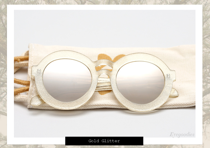 Karen Walker Joyous sunglasses - Gold Glitter