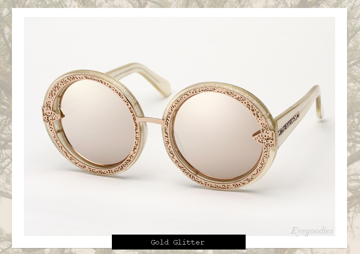 Karen Walker Orbit Filigree sunglasses - Gold Glitter