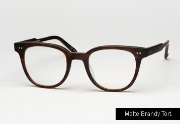 Garrett Leight Angelus eyeglasses - Matte Brandy Tortoise