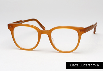 Garrett Leight Angelus eyeglasses - Matte Butterscotch