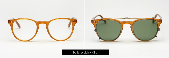 Garrett Leight Milwood Eyeglasses - Butterscotch
