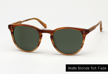 Garrett Leight Milwood sunglasses - Matte Blonde Tortoise Fade