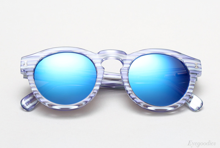 Illesteva Leonard sunglasses - Light Blue Stripes