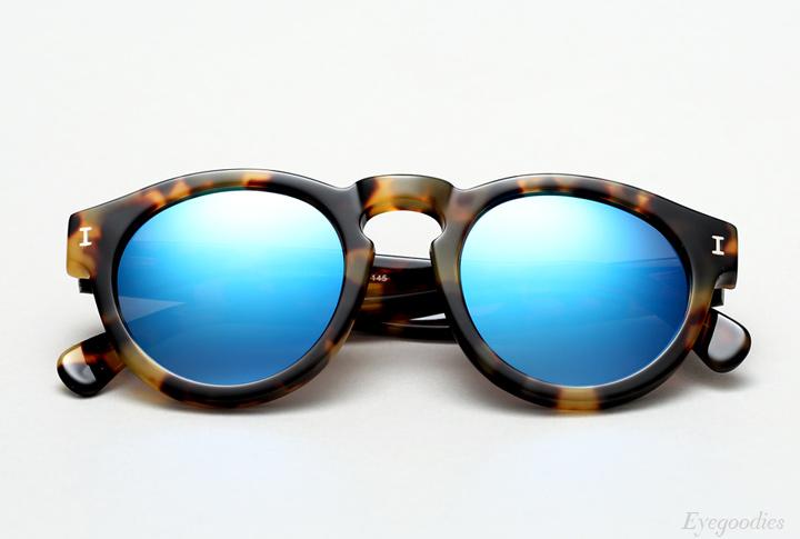 Illesteva Leonard sunglasses - Tortoise with Blue Mirror
