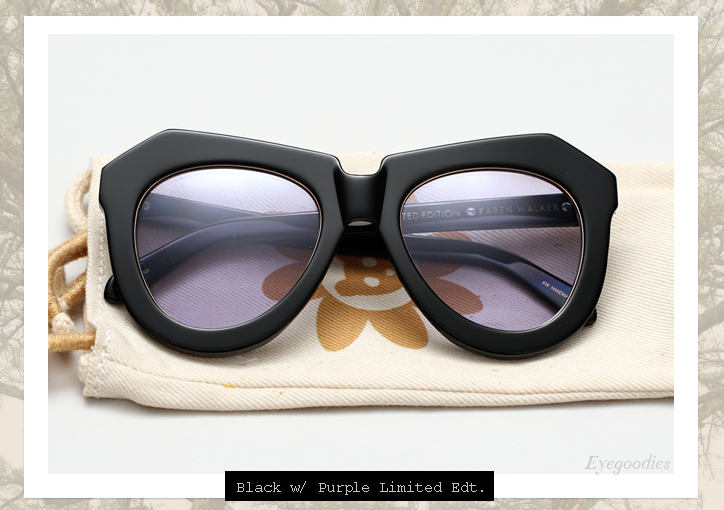 321afcec2f38 ... Karen Walker One Worship sunglasses - Black w Purple Lens