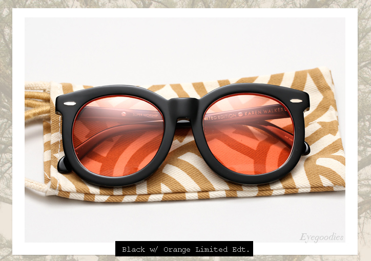 Karen Walker Super Worship sunglasses - Black with Orange Lens