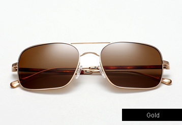 Oliver Peoples West De Oro sunglasses - Gold w/ Canyon Polarized lenses