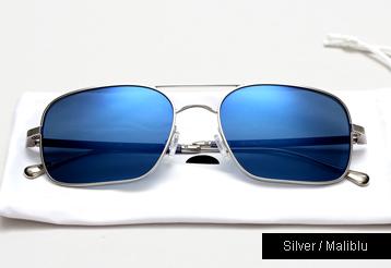 Oliver Peoples West De Oro sunglasses - Silver w/ Maliblu Mirror Polarized lenses