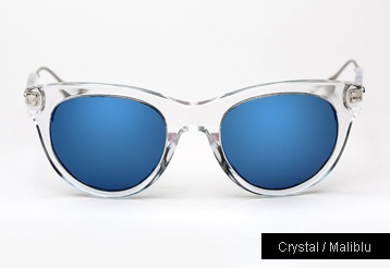 Oliver Peoples West Latigo sunglasses - Crystal w/ Maliblu Mirror Polarized