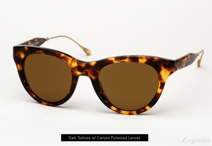 Oliver Peoples West Latigo sunglasses - Dark Tortoise