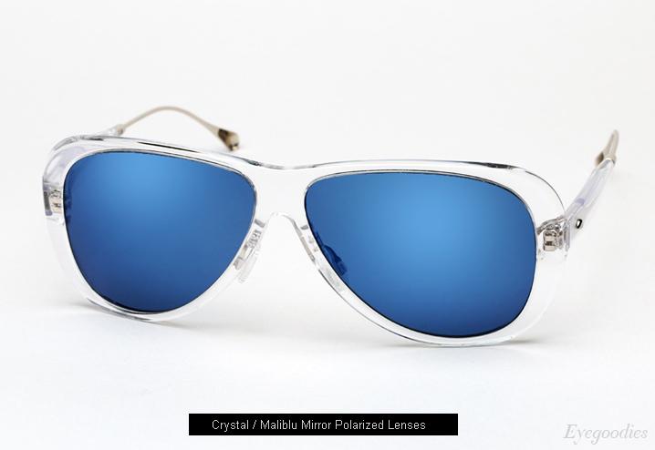 Oliver Peoples West Manzanita sunglasses - Crystal w/ Maliblu Mirror Polarized