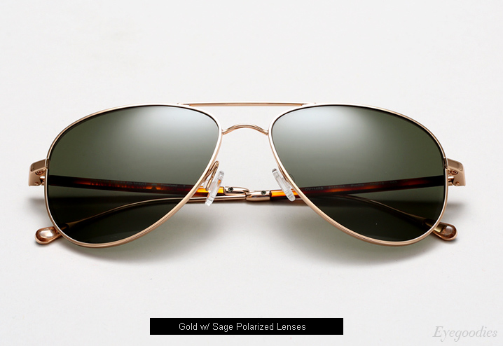 Oliver Peoples West Piedra sunglasses - Gold w/ Sage Polarized lenses