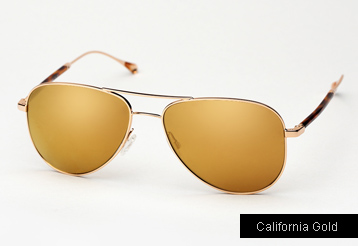 Oliver Peoples West Piedra sunglasses - Gold w/ California Gold Mirror Polarized lenses