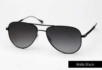 Oliver Peoples West Piedra sunglasses - Matte Black w/ Moonlight Polarized lenses