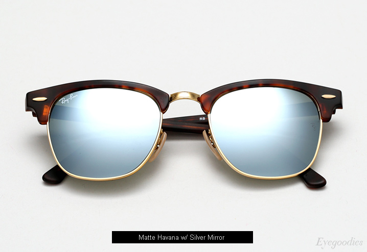 ray ban havana clubmaster  Ray Ban Color Mirror Sunglasses