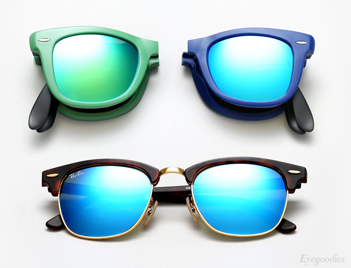 ray ban coloured aviator mirror