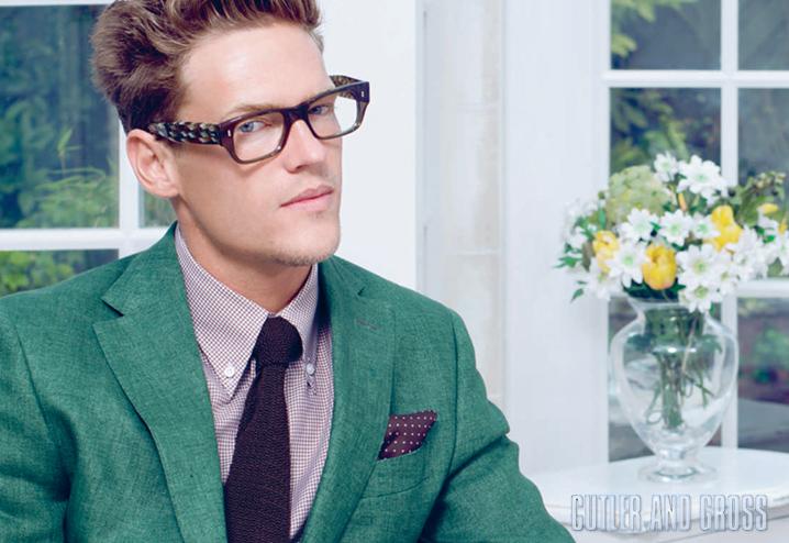 Cutler and Gross 692 eyeglasses - Olive / Tweed