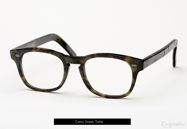 Cutler and Gross 1046 eyeglasses - Camo Green Turtle