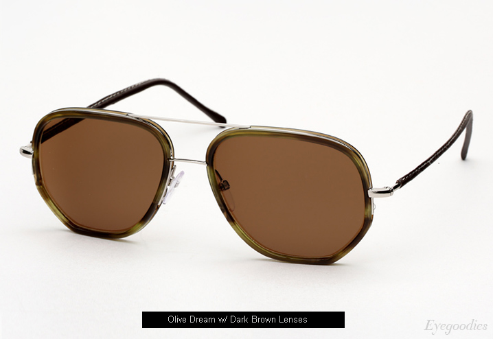 Cutler and Gross 1084 sunglasses - Olive Dream